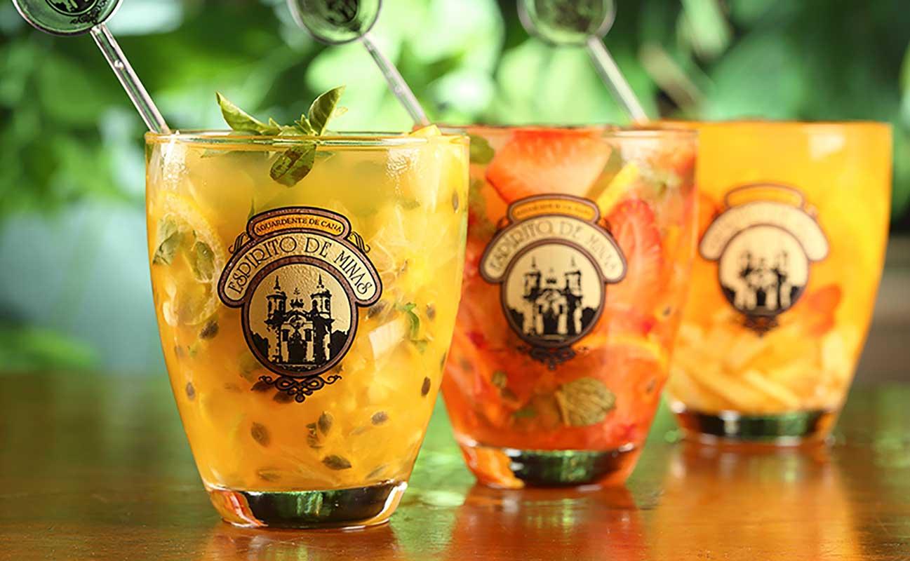 Drei Espirito de Minas Cachaca Batida Cocktails