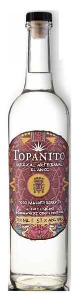 Topanito Mezcal Flasche mit 52 Volumenprozent